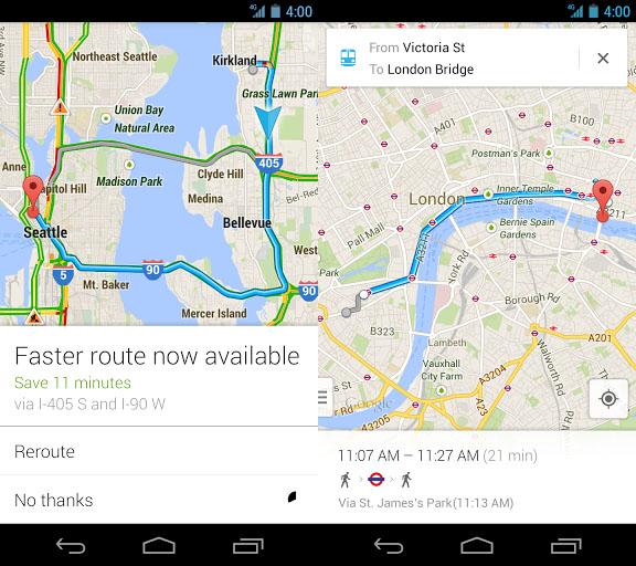 Google 手機 Android 版地圖全新改版,Google 手機語音導航正式在台灣啟用