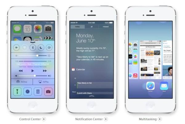 iOS 7 蘋果新系統外觀設計方案遭多方詬病