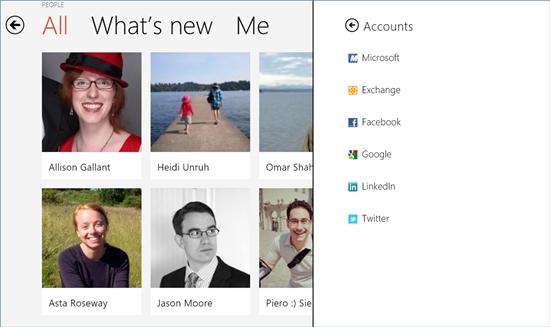 微軟證實 Windows 8 People (人脈) 將整合新浪微博